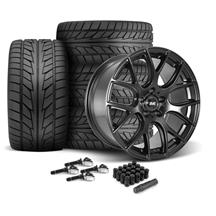 Mustang SVE Drift Wheel & Tire Kit - 19x9.5  - Flat Black - NT555 Tires (15-20)