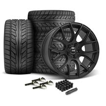 Mustang SVE Drift Wheel & Tire Kit - 19x9.5  - Flat Black - NT555 Tires (15-17)