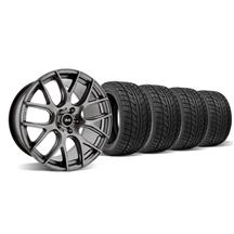 Mustang SVE Drift Wheel & Tire Kit - 18x9/10 Dark Stainless (05-14)
