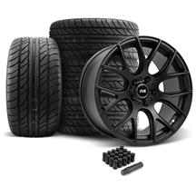 Mustang SVE Drift Wheel &Tire Kit - 18X9 Flat Black (05-14)