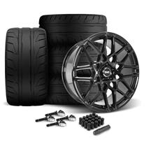 Mustang SVE S500 Wheel & Tire Kit - 20x8.5/10  - Gloss Black - 275 NT05 Tire (15-18)