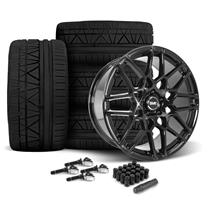 Mustang SVE S500 Wheel & Tire Kit - 20x8.5/10  - Gloss Black - 295 Invo Tire (15-17)