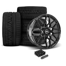 Mustang SVE S500 Wheel & Tire Kit - 20x8.5/10  - Gloss Black - 295 Invo Tire (05-14)