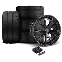 Mustang CDC Outlaw 20X9/10 Wheel & Nitto Nt05 Tire Kit  Black (05-14)
