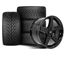 Mustang 03 Cobra Wheel & Tire Kit - 17x9 Black (79-93)