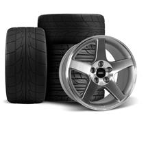 Mustang SVE 2003 Cobra Style Wheel & Drag Radial Tire Kit -  17x9/10.5 - Machined - NT555 G2 (94...