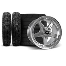 Mustang SVE Drag Wheel & Tire Kit 17x4.5/15x10  - Chrome  (94-04)