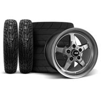 Mustang SVE Drag Wheel & Tire Kit 15x10/17x4.5 Dark Stainless  (94-04)