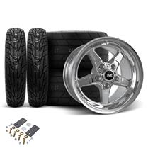 Mustang SVE Drag Wheel & Tire Kit 15X10/17X4.5 Chrome  (05-14)