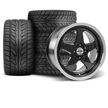 Mustang SC Wheel & Tire Kit - 17x8 Black (79-93)