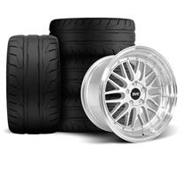 Mustang SVE Series 1 Wheel & Tire Kit - 18x9/10  - Gloss Silver - NT05 Tires (94-04)