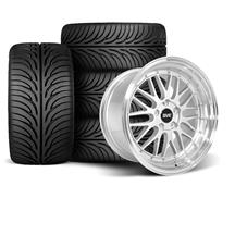 Mustang SVE Series 1 Wheel & Tire Kit - 18x9/10  - Gloss Silver - Z II Tires (94-04)