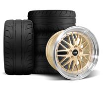 Mustang SVE Series 1 Wheel & Tire Kit - 18x9/10  - Liquid Gold - NT05 Tires (94-04)