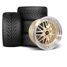 Mustang SVE Series 1 Wheel & Tire Kit - 18x9/10  - Liquid Gold - Z II Tires (94-04)