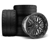 Mustang SVE Series 1 Wheel & Tire Kit - 18x9/10  - Gloss Black (94-04)