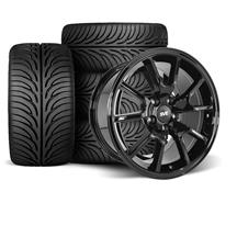 Mustang FR500 Wheel & Tire Kit - 17x9  - Gloss Black - Z II Tires (94-04)