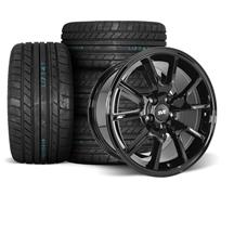 Mustang SVE FR500 Wheel & Tire Kit - 17x9/10.5  - Gloss Black - M/T Tires (94-04)