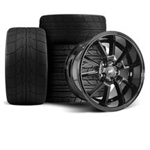 Mustang FR500 Wheel & Tire Kit - 17x9/10.5  - Gloss Black - NT555R (94-04)
