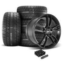 Mustang SVE GT7 Wheel & Tire Kit - 20x10  - Satin Black - M/T Street Comp Tires (05-14)