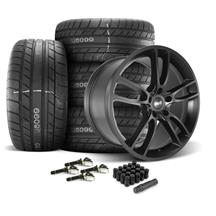 Mustang SVE GT7 Wheel & Tire Kit - 20x10  - Satin Black - M/T Street Comp Tires (15-19)