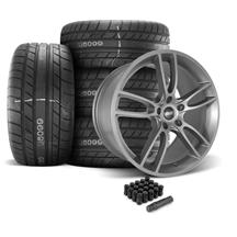 Mustang SVE GT7 Wheel & Tire Kit - 20x10  - Satin Graphite - M/T Street Comp Tires (05-14)