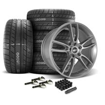 Mustang SVE GT7 Wheel & Tire Kit - 20x10  - Satin Graphite - M/T Street Comp Tires (15-19)
