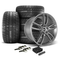 Mustang SVE GT7 Wheel & Tire Kit - 20x10/11  - Satin Graphite - M/T Street Comp Tires (15-19)