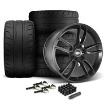 Mustang SVE GT7 Wheel & Tire Kit - 19x10/11  - Satin Black - NT05 Tires (15-19)