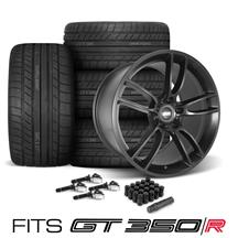 Mustang SVE GT350 GT7 Wheel & Tire Kit - 19x11/11.5  - Satin Black - Cooper Tires (15-19)