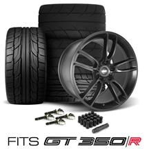 Mustang SVE GT350 GT7 Wheel & Tire Kit - 19x11/11.5  - Satin Black - G2 & M/T Tires (15-19)