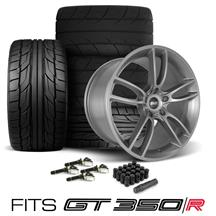 Mustang SVE GT350 GT7 Wheel & Tire Kit - 19x11/11.5  - Satin Graphite - G2 & M/T Tires (15-19)