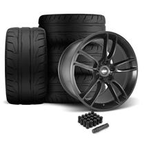 Mustang SVE GT7 Wheel & Tire Kit - 19x10/11  - Satin Black - NT05 Tires (05-14)