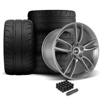 Mustang SVE GT7 Wheel & Tire Kit - 19x10/11  - Satin Graphite - NT05 Tires (05-14)