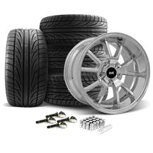 Mustang FR500 Wheel & Tire Kit - 20x8.5/10 Chrome (15-17)
