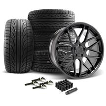 Mustang Downforce Wheel & Tire Kit - 20x8.5/10  Matte Black (15-18)