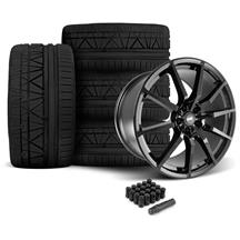 Mustang SVE GT350 Style Wheel & Tire Kit - 20x10  - Gloss Black - Invo Tires (05-14)