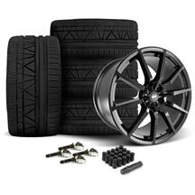Mustang SVE S350 Wheel & Tire Kit - 20x10  - Gloss Black - Invo Tires (15-18)