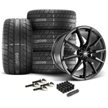 Mustang SVE S350 Wheel & Tire Kit - 20x10  - Gloss Black - M/T Street Comp Tires (15-17)