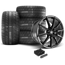 Mustang SVE GT350 Style Wheel & Tire Kit - 20x10  - Gloss Black - M/T Street Comp Tires (05-14)