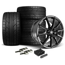 Mustang SVE S350 Wheel & Tire Kit - 20x10  - Gloss Black - NT555 G2 Tires (15-18)