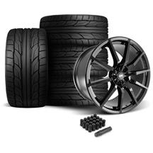 Mustang SVE GT350 Style Wheel & Tire Kit - 20x10  - Gloss Black - NT555 G2 Tires (05-14)