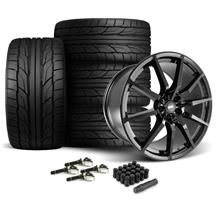 Mustang SVE S350 Wheel & Tire Kit - 20x10  - Gloss Black - Staggered NT555 G2 Tires (15-18)