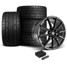 Mustang SVE GT350 Style Wheel & Tire Kit - 20x10  - Gloss Black - Staggered NT555 G2 Tires (05-1...