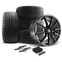 Mustang SVE S350 Wheel & Tire Kit - 20x10  - Gloss Black - Ohtsu Tires (15-20)