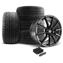 SVE Mustang S350 Wheel & Tire Kit - 20x10  - Gloss Black (05-14) Ohtsu FP8000