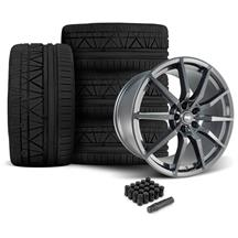 Mustang SVE GT350 Style Wheel & Tire Kit - 20x10  - Gloss Graphite - Invo Tires (05-14)
