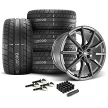 Mustang SVE S350 Wheel & Tire Kit - 20x10  - Gloss Graphite - M/T Street Comp Tires (15-19)