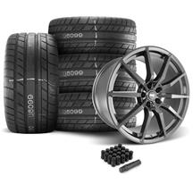 Mustang SVE GT350 Style Wheel & Tire Kit - 20x10  - Gloss Graphite - M/T Street Comp Tires (05-1...