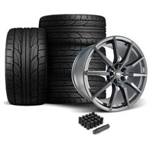 Mustang SVE GT350 Style Wheel & Tire Kit - 20x10  - Gloss Graphite - NT555 G2 Tires (05-14)