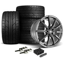Mustang SVE GT350 Style Wheel & Tire Kit - 20x10  - Gloss Graphite - Staggered NT555 G2 Tires (1...